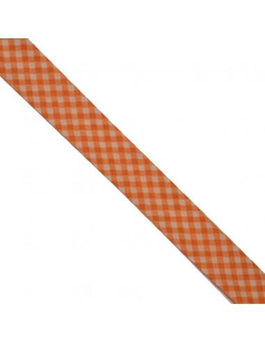 Biais coton 20mm Vichy Chair-Mandarine