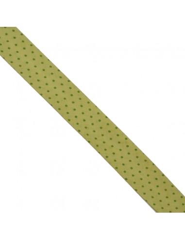 Biais coton 20mm Anis à Pois Prairie