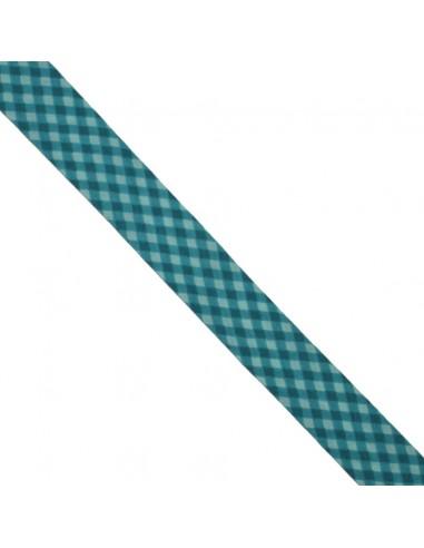 Biais coton 20mm Vichy Lagon-Canard