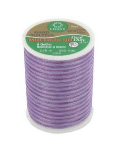 Bobine de 228m de fil multicolor Dual Duty à quilter - violet