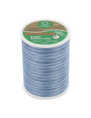 Bobine de 228m de fil multicolor Dual Duty à quilter - bleu