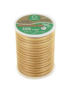 Bobine de 228m de fil multicolor Dual Duty à quilter - vanille