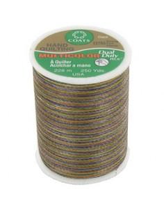 Bobine de 228m de fil multicolor Dual Duty à quilter - brun