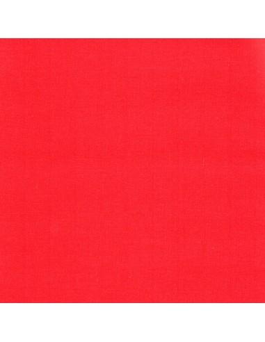 Tissu en coton léger Unis coloris Coquelicot