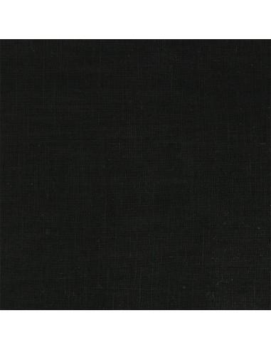 Coupon de tissu en lin coloris noir de jais