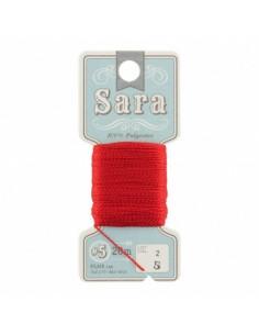 Fil à broder Sara à la carte 20m Rouge