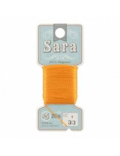Fil à broder Sara à la carte 20m Tangerine