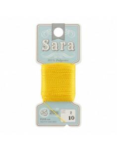 Fil à broder Sara à la carte 20m Bouton d'or