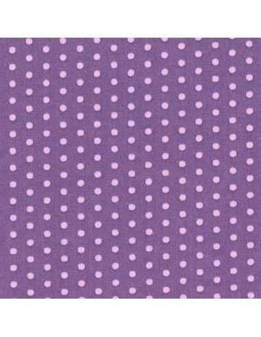 Tissu en coton léger coloris Pervenche à pois Dragée