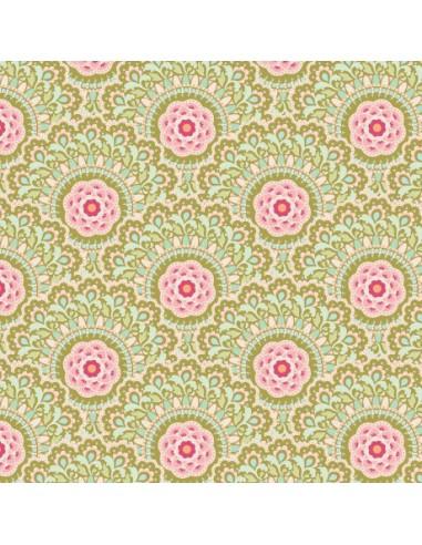Tissu en coton Harvest - Cabbage Flower Green