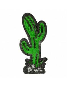 Thermocollant Cactus pailleté