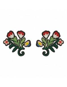 Thermocollant Fleur folk - la paire