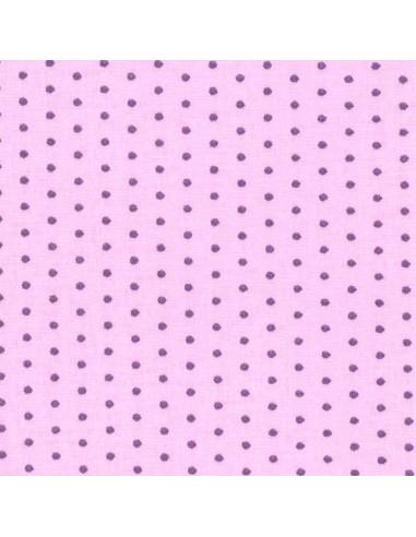 Tissu en coton léger coloris Dragée à pois Pervenche
