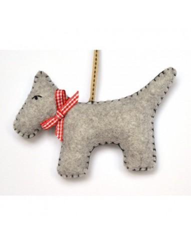 Kit créatif en feutrine - le chien gris