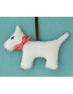 Kit créatif en feutrine - le chien blanc