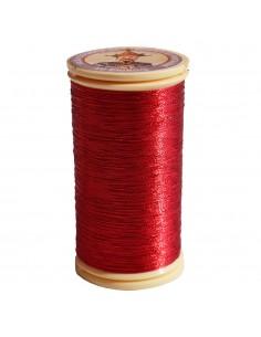 Bobine de 100m de fil métallisé Rouge