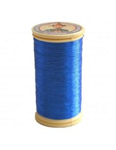 Bobine de 100m de fil métallisé Bleu dur