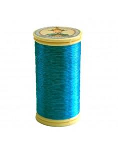 Bobine de 100m de fil métallisé Turquoise