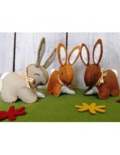 Kit créatif en feutrine - trois p'tits lapins