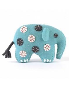 Kit créatif en feutrine - éléphant bleu
