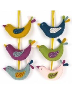 Kit créatif en feutrine - les oiseaux d'été