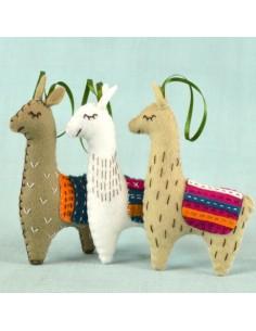 Kit créatif en feutrine - les trois lamas