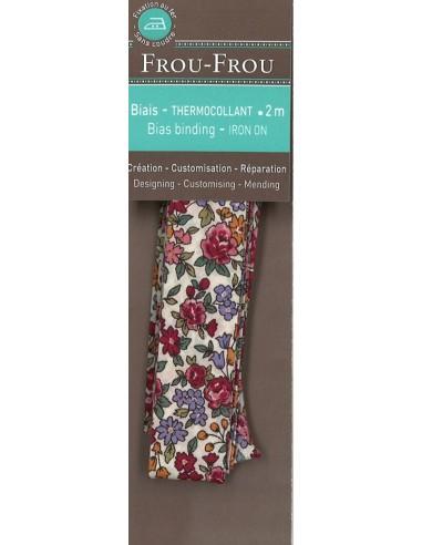 Biais thermocollant Fleuri Nina coloris Cerise - 2m
