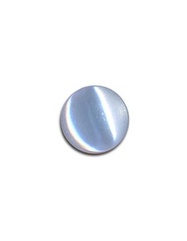 Bouton Plastique Rond 11mm Bleu layette