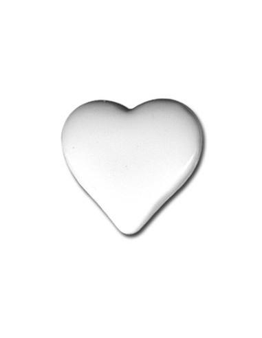 Bouton Coeur 15mm Blanc