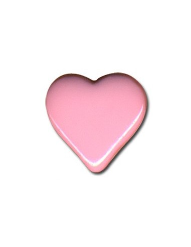 Bouton Coeur 15mm Rose layette