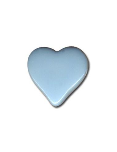Bouton Coeur 15mm Bleu ciel