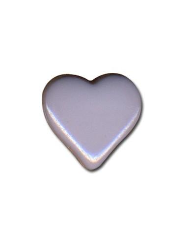 Bouton Coeur 15mm Gris de lin