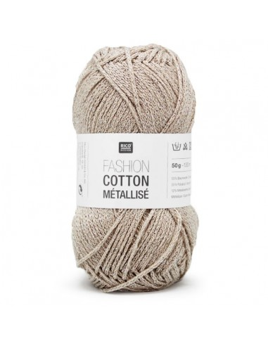 Pelote Fashion cotton métallisé dk platine