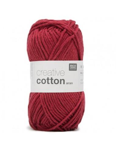 Pelote Creative cotton aran cerise
