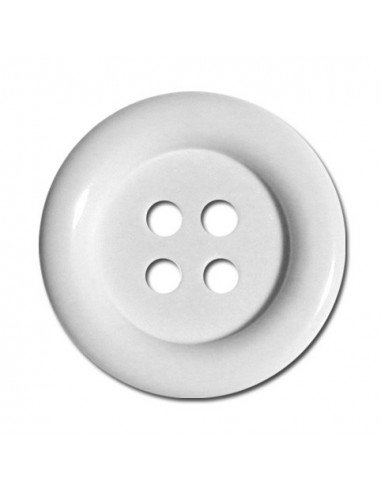 Bouton Rond 33mm Blanc