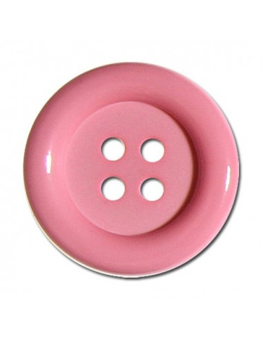 Bouton Rond 33mm Rose