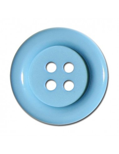 Bouton Rond 33mm Bleu layette
