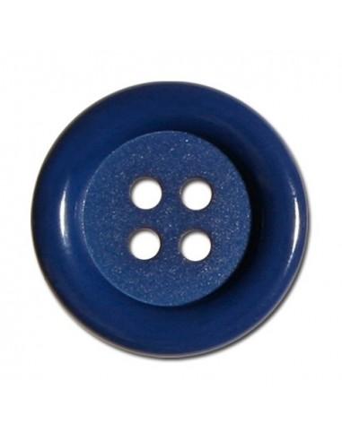 Bouton Rond 33 mm Bleu minéral