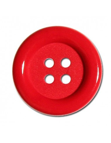 Bouton Rond 33mm Rouge