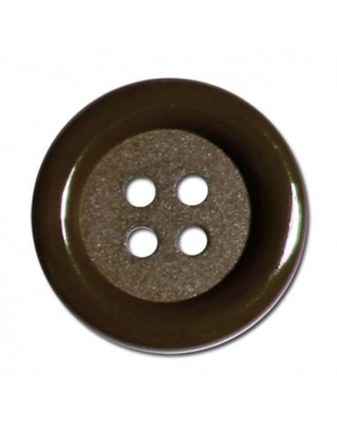 Bouton Rond 33mm Marron