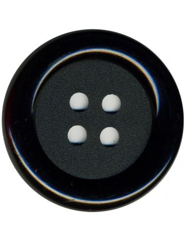 Bouton Rond Noir 62mm