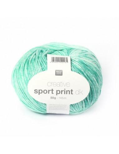 Acheter Pelote Creative sport print dk gris sur La