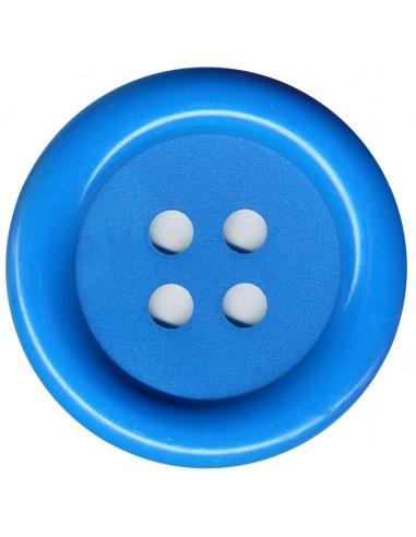 Bouton Rond Bleu 62mm
