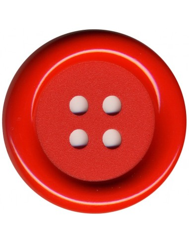 Bouton Rond Rouge 62mm