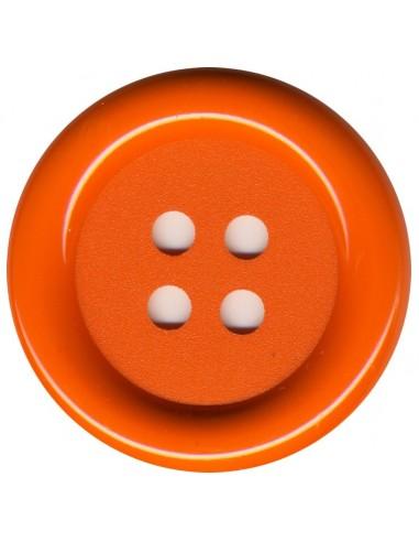 Bouton Rond Orange 62mm