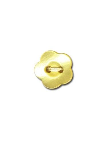 Bouton Fleur 12mm Jaune