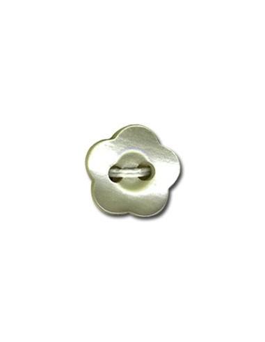 Bouton Fleur 12mm Vert d'eau