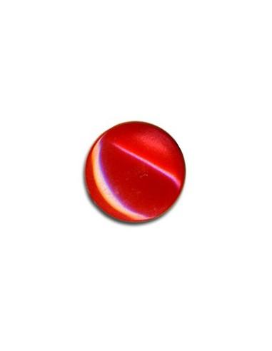 Bouton Plastique Rond 11mm Rouge