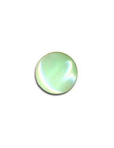 Bouton Plastique Rond 11mm Vert d'eau
