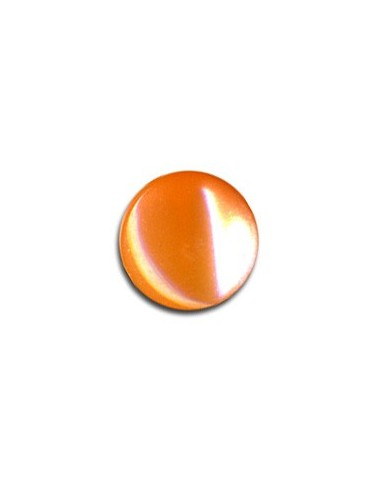 Bouton Plastique Rond 11mm Mandarine